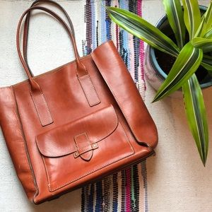 Frye Casey Leather Tall Tote